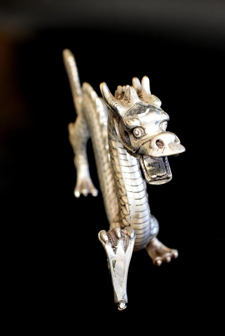 Silver Bronze Dragon For Sale 9
