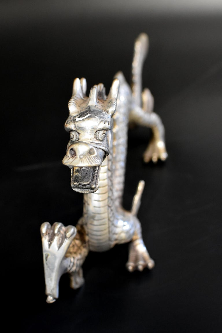 Silver Bronze Dragon For Sale 10