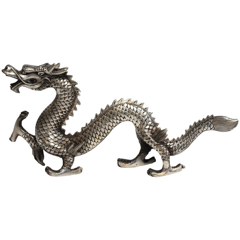 Silver Bronze Dragon For Sale