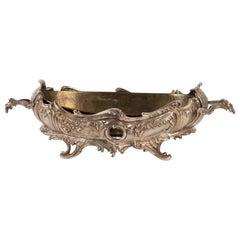 Silver Bronze Louis XV Style Planter, Napoleon III Period