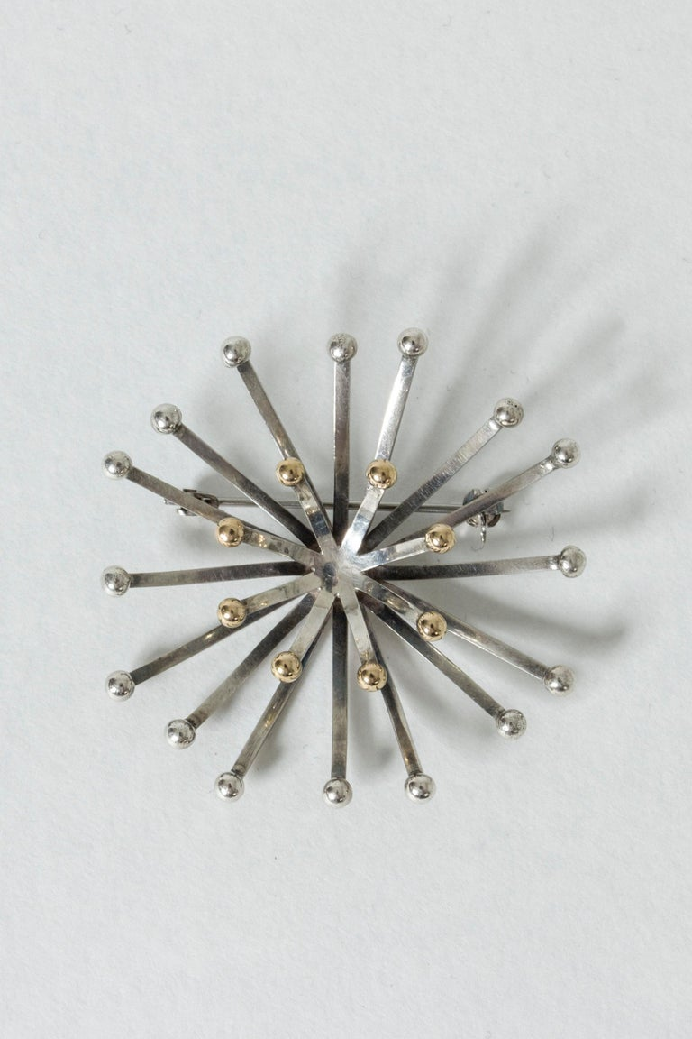 Silver Brooch by Cecilia Johansson, Sweden, 1977 For Sale 2
