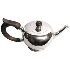 Silver Bullet Teapot, George 11 Style, Dated 1975, Rodney Pettitt, London Assay