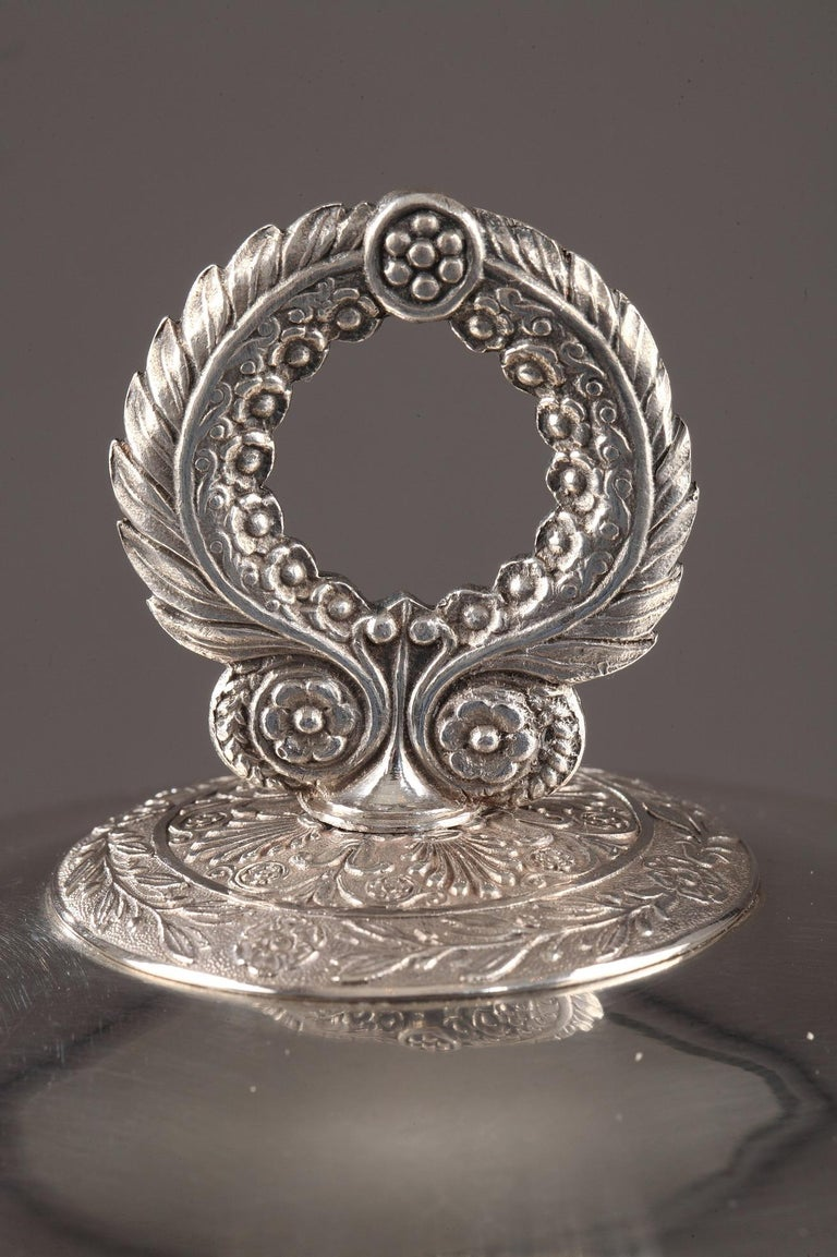Silver Candy Dish, Restauration Period For Sale 5