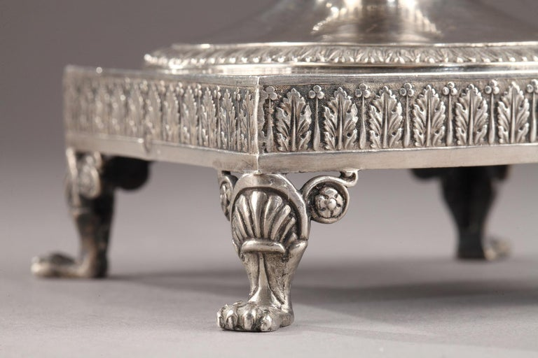 Silver Candy Dish, Restauration Period For Sale 7