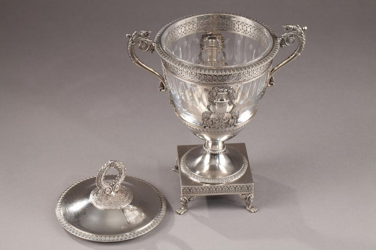 Silver Candy Dish, Restauration Period For Sale 8