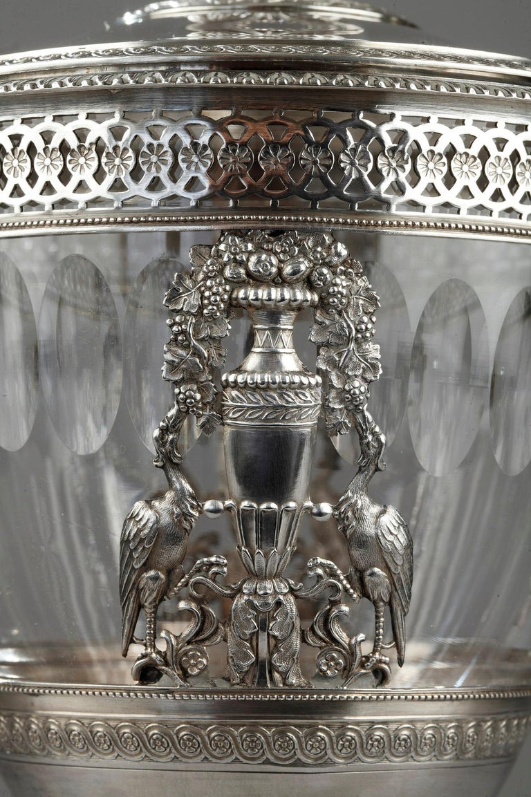 French Silver Candy Dish, Restauration Period For Sale