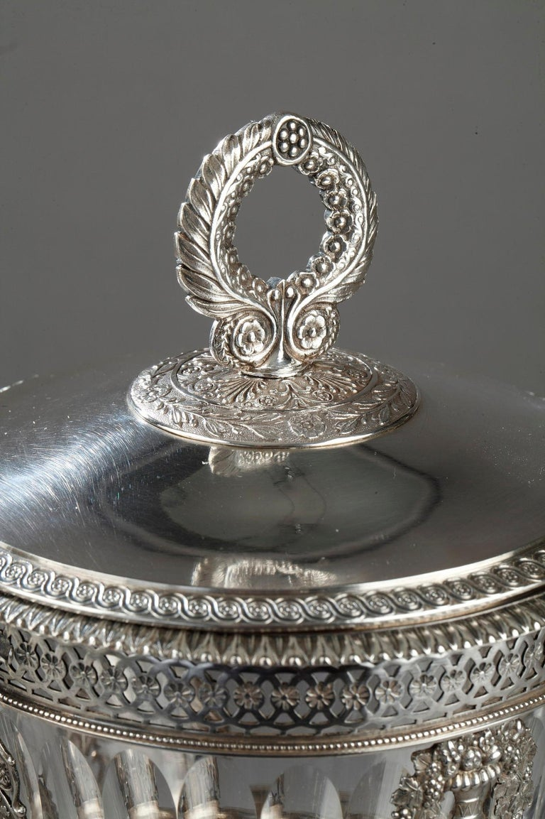 Silver Candy Dish, Restauration Period For Sale 4