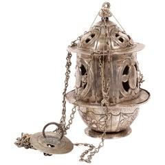 Silver Censer, with Hallmarks, 17th Century