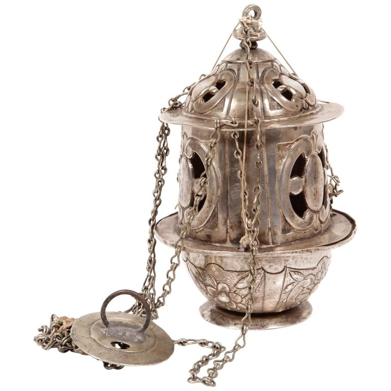 Silver Censer, with Hallmarks, 17th Century For Sale