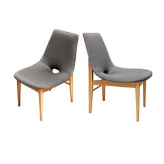 Silver Chairs by H. Lachert for ŁAD, Poland, 1956, Set of Two