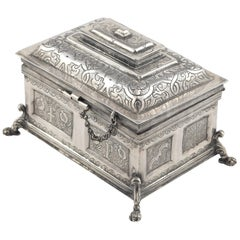 Silver Chest, after 17th Century Models, Possibly, 20th Century