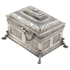Silver Chest, After 17th Century Models, circa 20th Century