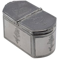 Silver Chrismatory Box or Chrismarium, with Hallmarks, Córdoba, Spain, 1789