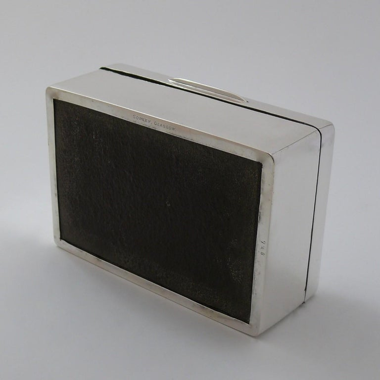 Mid-20th Century Sterling Silver Cigarette Box, hallmarked 1935 For Sale