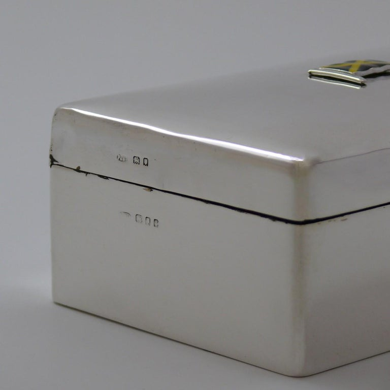 Sterling Silver Cigarette Box, hallmarked 1935 For Sale 3
