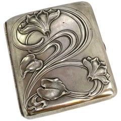 Silver Cigarette Case Art Nouveau