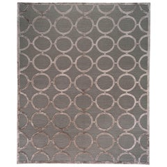 Silver Circles Loop and Cut Rug