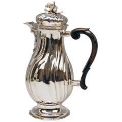 Silver Coffee Pot Rococo Period Augsburg Germany Jacob Wilhelm Kolb