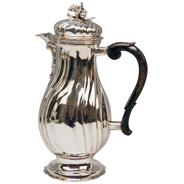 Silver Coffee Pot Rococo Period Augsburg Germany Jacob Wilhelm Kolb For Sale