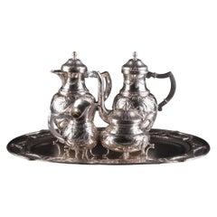 Silver Coffee & Tea Service Set, 5 Pieces, Engeland 19/20th Century