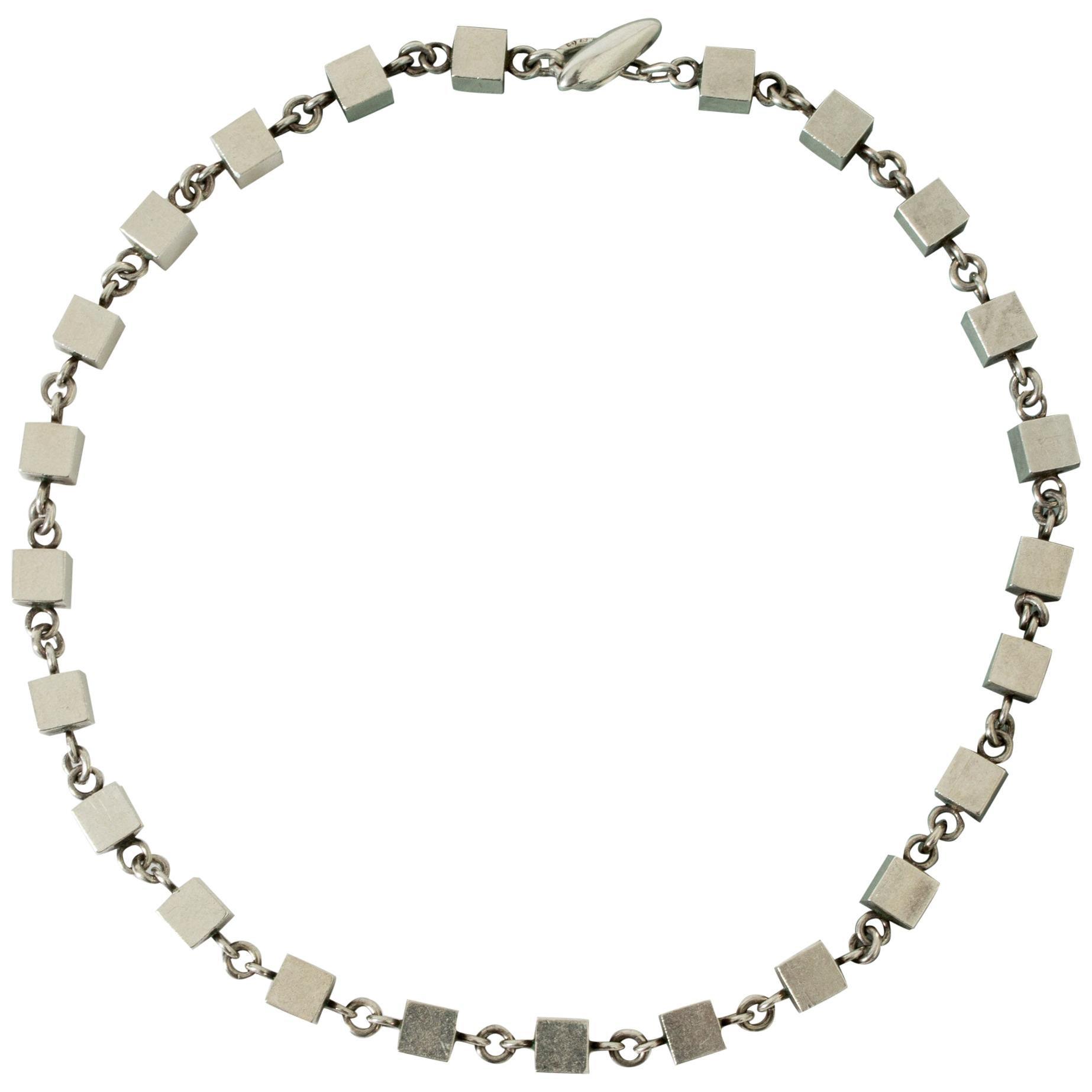 Silver Collier by Arvo Saarela, Sweden, 1962