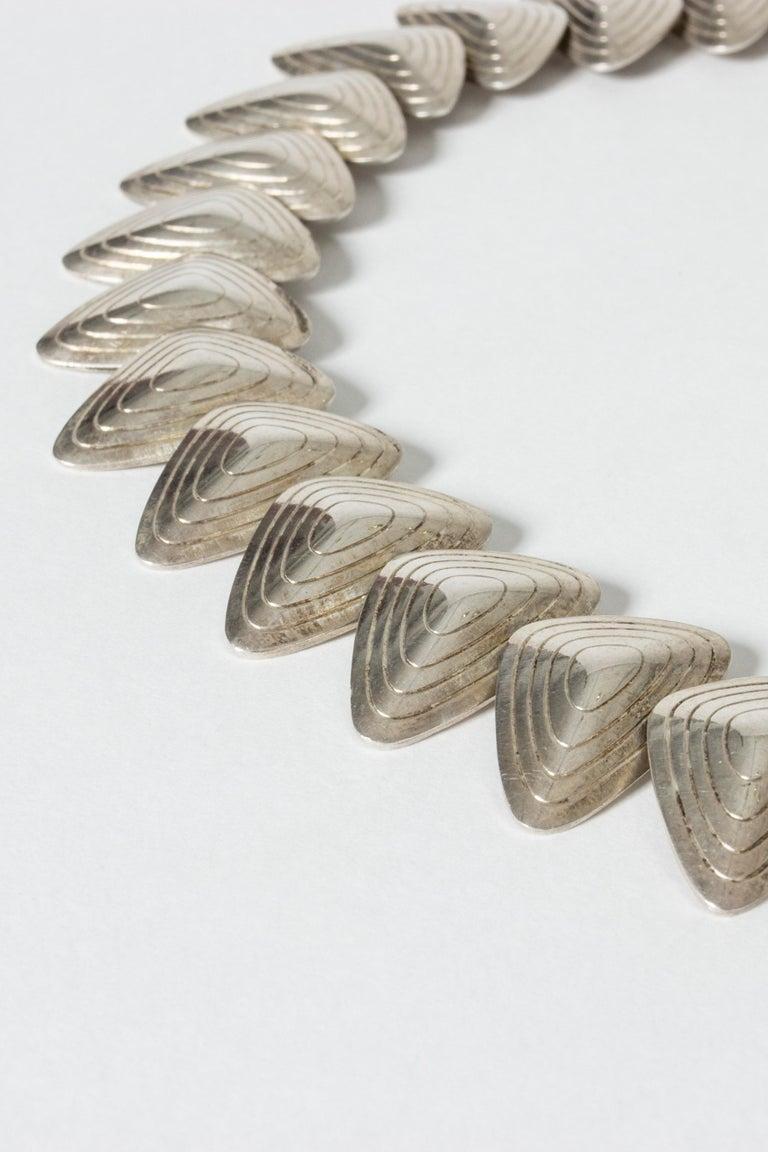 Women's or Men's Silver Collier from Børresen & Lassen, Denmark, 1950s For Sale