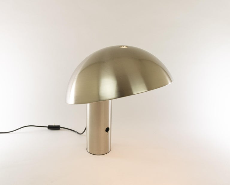 Mid-Century Modern Silver Colored Vaga Table Lamp by Franco Mirenzi for Valenti, 1970s For Sale