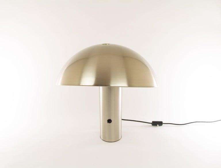 Italian Silver Colored Vaga Table Lamp by Franco Mirenzi for Valenti, 1970s For Sale