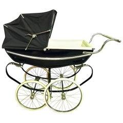 Silver Cross Balmoral Navy Blue Baby Pram Carriage Stroller