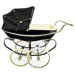 Silver Cross Balmoral Navy Blue Baby Pram Carriage Stroller