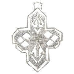 Silver Cross Pendant by Cartier Paris