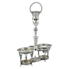 Silver Cruet Stand, Santander, Spain, 19th Century