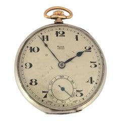 Silver Dennison Case RONE Dress Pocket Watch