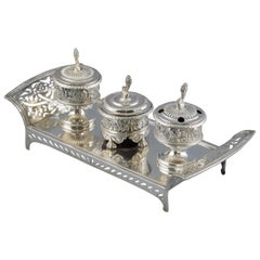 Silver Desk Writing Set, Platerías Martínez, Madrid, Spain, 1845