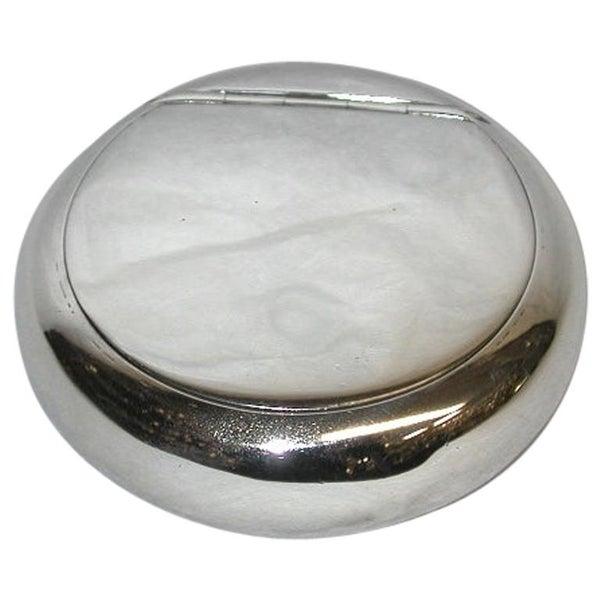 Silver Edwardian Tobacco Box with Sprung Flip Up Lid, Dated 1902, Birmingham
