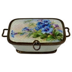 Silver and Enamel Box, Dated 1911, Import Marks for Cohen & Charles