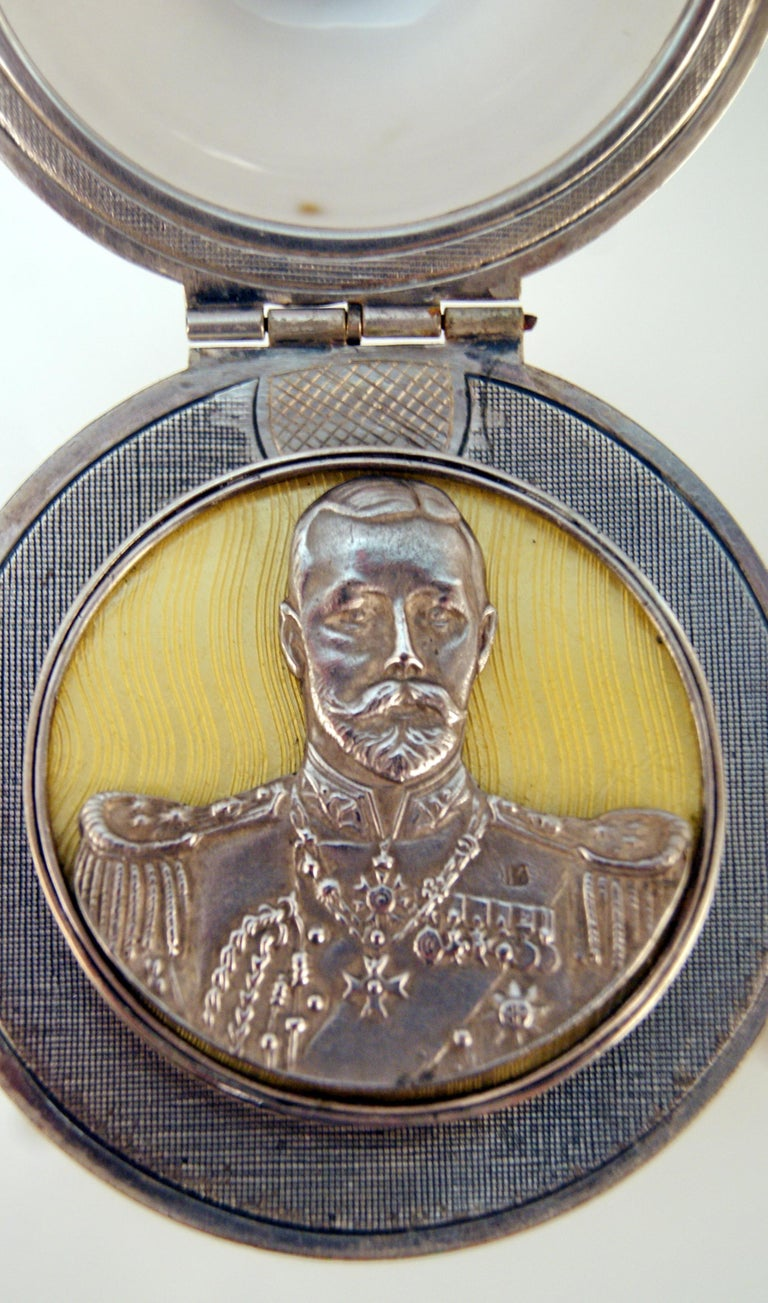 Sterling Silver Silver Enamel Czar Nicholas II Egg Moskow Russian Empire, 1894 For Sale