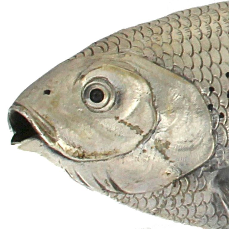 Silver fish grayling Sculpture