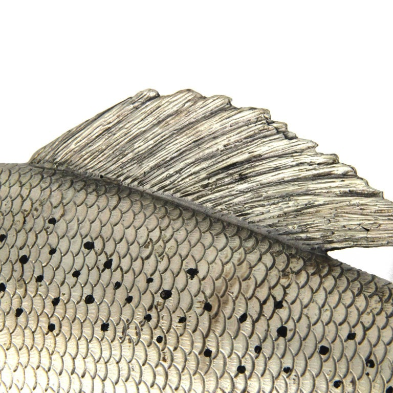 Women's or Men's Silver Fish Grayling Sculpture For Sale