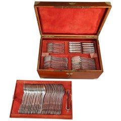 Silver Flatware Service by Edmond Jamet, Paris
