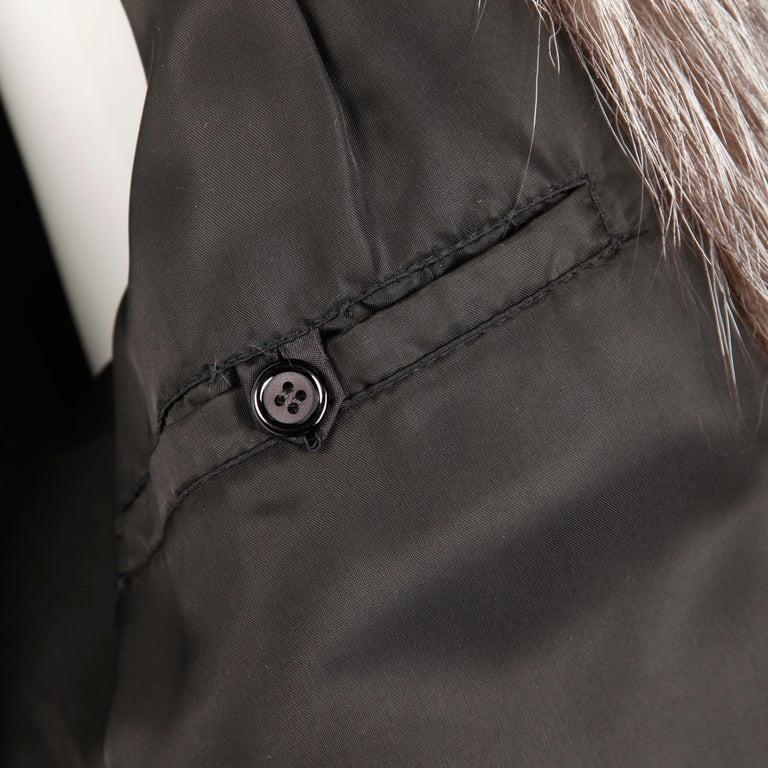 Silver Fox Fur Coat For Sale 6