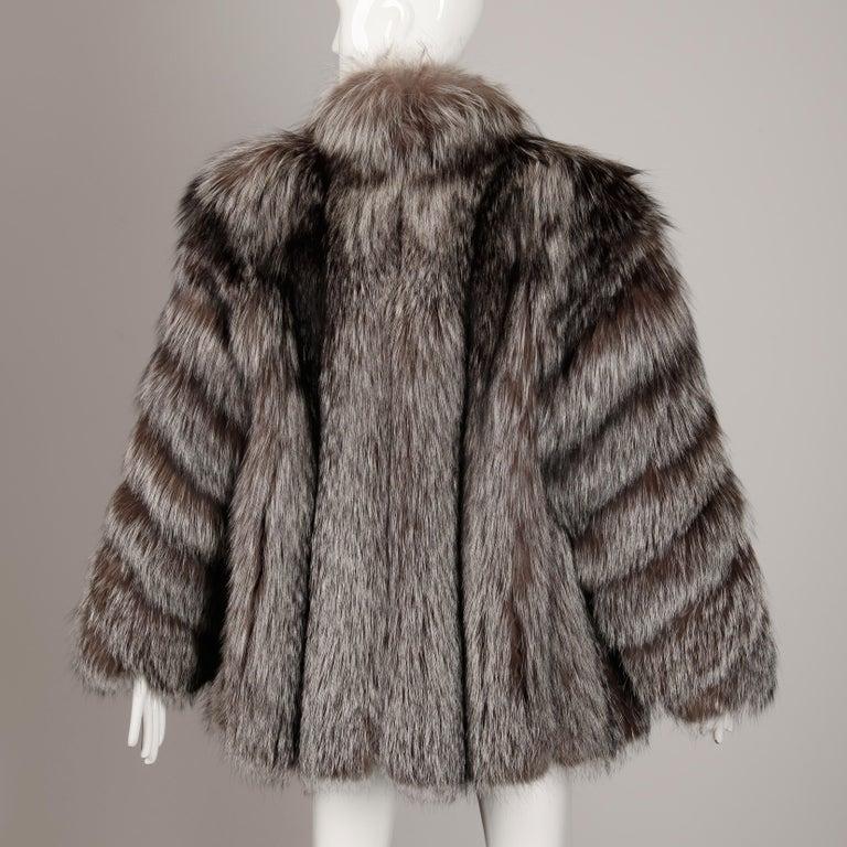 Women's Silver Fox Fur Coat For Sale