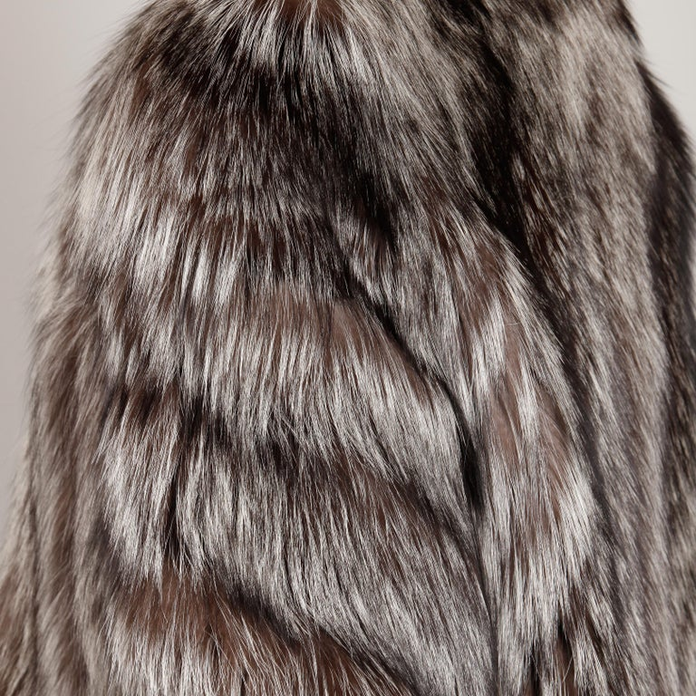 Silver Fox Fur Coat For Sale 1