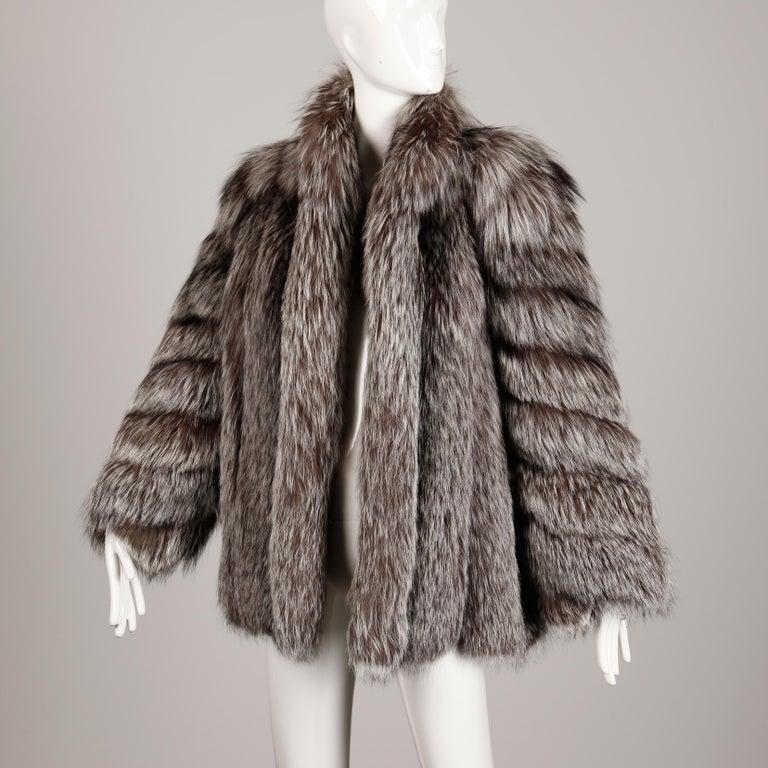 Silver Fox Fur Coat For Sale 2