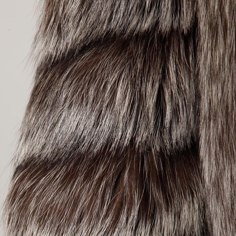 Silver Fox Fur Coat For Sale 3