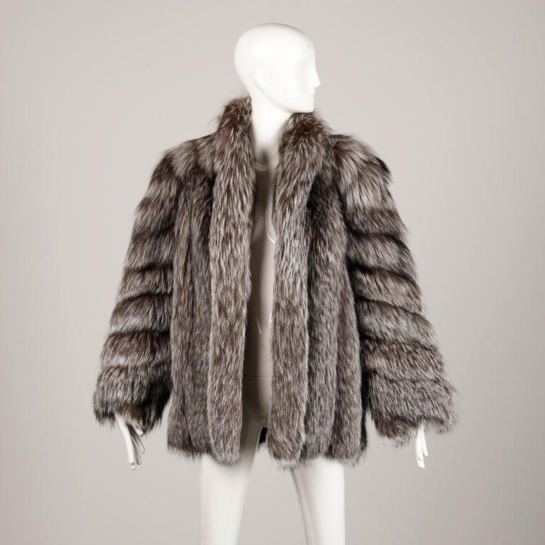 Silver Fox Fur Coat For Sale 4