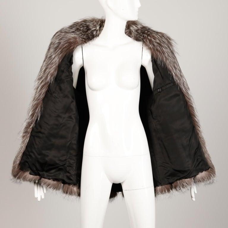 Silver Fox Fur Coat For Sale 5
