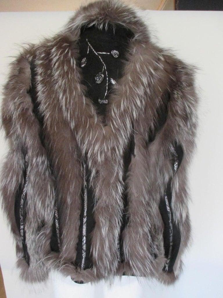 Silver Fox Fur jacket  For Sale 1