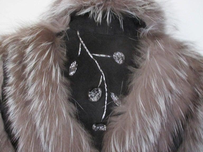 Silver Fox Fur jacket  For Sale 2