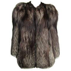 Silver Fox Fur Soft Supple Jacket 1990s